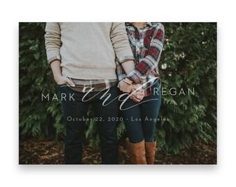 Photo Save the Date/Wedding STD/Photo Wedding Save The Dates/Save-The-Date/Save the Date Photo/Classic/Clean
