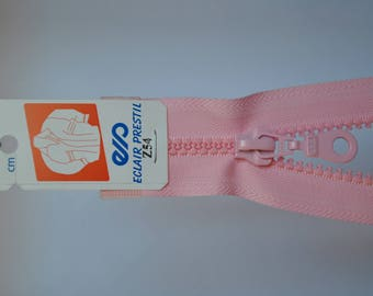30cm separable zipper pale pink Z54 803 mesh plastic molded