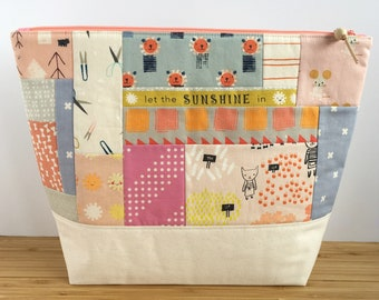 LARGE Patchwork Project Bag | Let the Sunshine in
