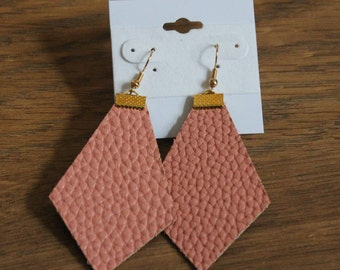 Naked Phoenix Leather Earrings - Soft Pink