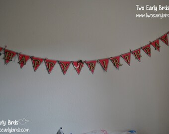 "Pirate ""Happy Birthday"" Banner- Party, Shower, Birthday"