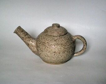 White Stoneware Tea Pot