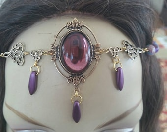 Lavender Circlet of the Arcane Priestess druid elven bridal celtic