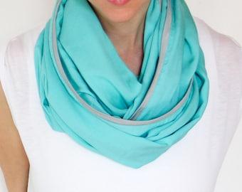Infinity Nursing Scarf, Gentle Turquoise