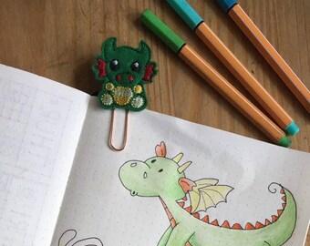 Dragon Planner Clip, paper clip, Dragon Bookmark, book mark