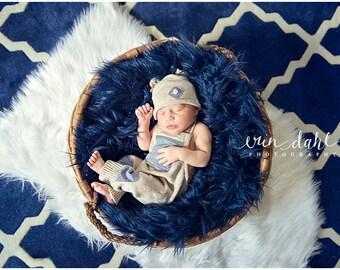 Newborn boy romper and hat set,newborn boy photo prop, newborn boy, newborn boy photo prop, baby boy, photography prop