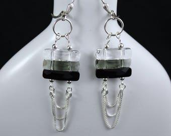 Midnight Magic Earrings (E933) - Swarovski Crystal & Sterling Silver