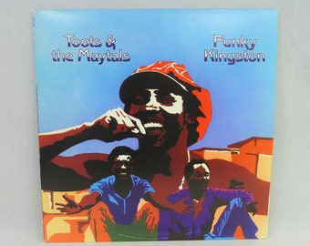 Toots & the Maytals LP Funky Kingston -  1975 roots reggae, ska - vintage 1970s vinyl Island orig