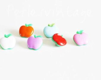 SALE 10 buttons two-tone Apple — bright multicolor set