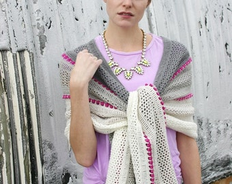 Treasures in the Sand Wrap, Shawl, Scarf, Poncho, Crochet Pattern