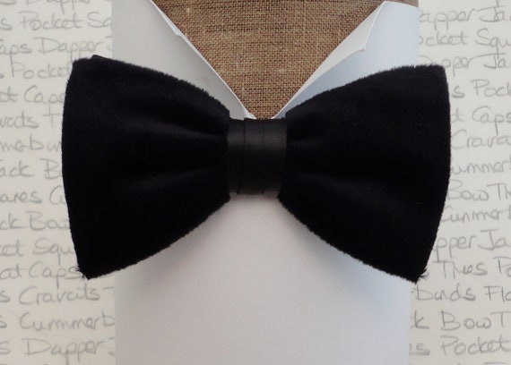 Black velvet pre tied bow tie, bow ties for men, bow ties for sale