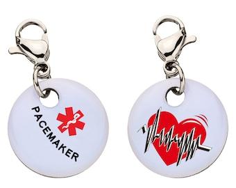 Pacemaker Medical Alert Bracelet Charm, Medical ID,  Large - 71