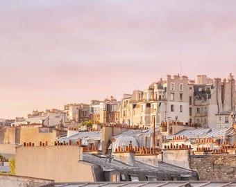 Rooftops Of Paris | Fine Art Photography | Parisian Art | Parisian Buildings | Photography in Paris | Paris Art Print | Chimneys of Paris