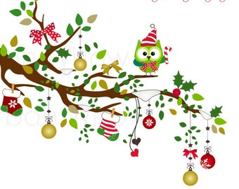 Christmas With a Twist - Png & Jpeg clip art images.