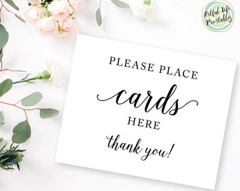 Wedding Cards Sign, Cards Sign for Wedding, Wedding Card Basket, Cards Sign Wedding, Wedding Card Box, Wedding Sign Printable, W101