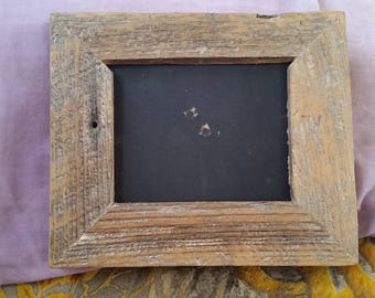Reclaimed barn wood picture frame