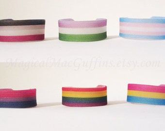 LGBTQA Orientation and Identity Pride Wrap-around Shrink Plastic Rings