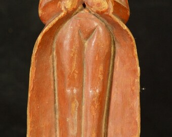 Middle 20th Century Old wooden Buddha statue from Burma
