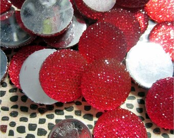 Valentine Red Decoration Dots, Red Cabochons, Red Resin Flat Backs, Red Flat Jewels, Bling Cabochons, Craft Project Jewel, Love Jewel 20 pcs
