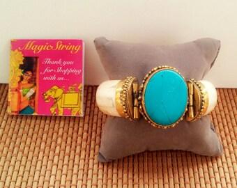 25% Off SALE Tribal Bracelet/Turquoise Bracelet/Bone Bracelet/Gemstone Bracelet/Boho Bracelet/Gypsy Bracelet/Brass Bracelet