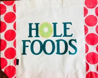HOLE FOODS market tote