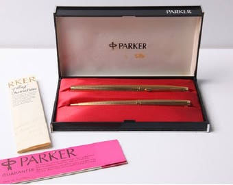 Parker 75 fountain pen and ballpoint pen France aerometric 1970s