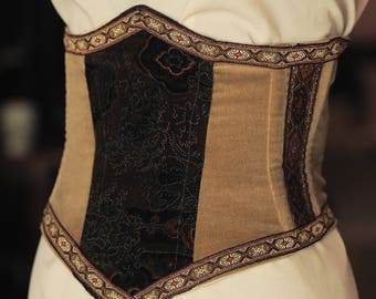 The baroque/Gothic/medieval under bust corset and dress