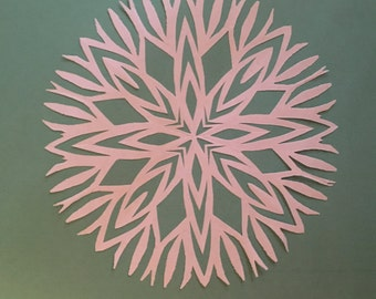 Handcut Paper Snowflakes, 10 count - Window decoration, photo booth prop, winter decoration, Christmas, wycinanki