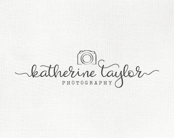 Photography logo and watermark, premade logo design, custom business logo, camera logo, blog header, photography branding 331