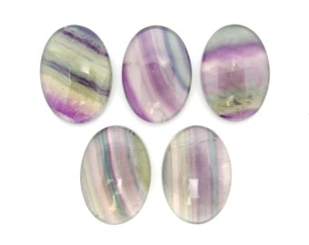 Oval Shaped Fluorite Cabochon - (RK78B17-02)