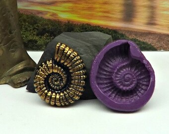 Silicone Flex Mold - 37mm Nautilus or Ammonite - for Polymer Clay, Resin, Clay, precious metal clay, Paper clay, soap, Chocolate and crafts