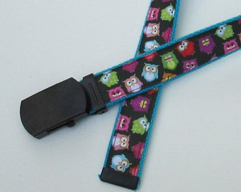 Owls Belt for Kids, Cute Childrens Belts for Children, Cute Kids Belts, Cute Girls Belts for Girls, Owl Themed Belt, School Belts