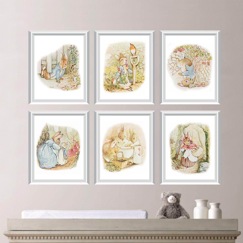 Peter Rabbit Nursery Decor. Baby Nursery Print Art. Peter