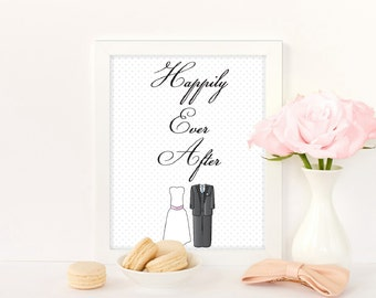 Etsy Exclusive - Happily Ever After print with white or black frame.