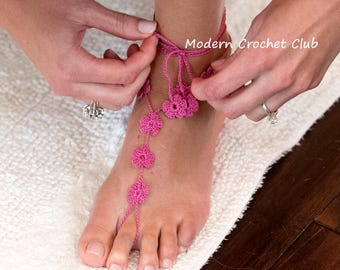 Foot Jewelry- Barefoot Sandals- Blue Beach Wedding Sandals-  Footless Sandals- Barefoot Wedding Sandals- Bridesmaids Gift- Blue- Flower Girl