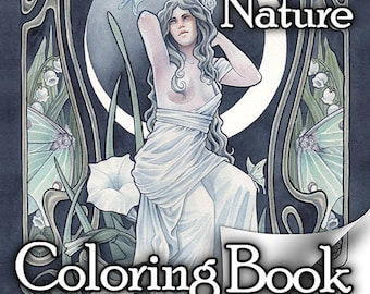 Fantasy and Nature Coloring Book