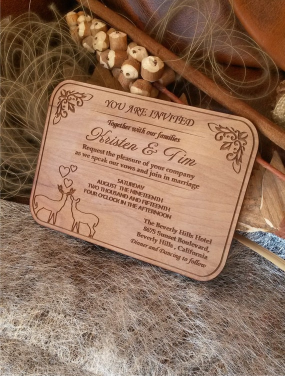 wood wedding invitations 50 engraved personalized wooden invitations laser cut 1480