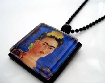 Frida Kahlo Glass Tile Pendant