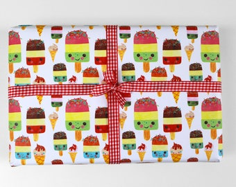 Happy Ice Lolly Wrapping Paper