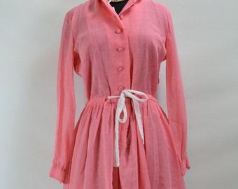 Late 1950s early 1960s Jane Bradley Pink Dress, 1950s dress, 50s dress, dress, 1950s, 1950, 1960, 1960s, 1960s dress, Jane Bradley Dress