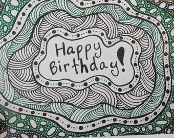 Happy Birthday - 5x7 greeting card - blank inside