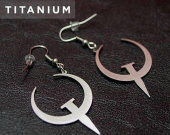 Quake - Titanium Earrings
