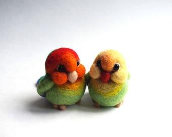 A pair of lovebirds