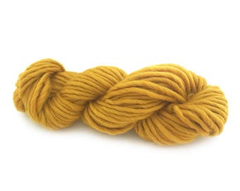 Super Chunky Merino Yarn - MUSTARD - (choose from either a 25 gram or 50 gram skein)