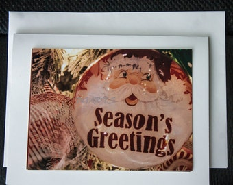 5 pk Season's Greeting Handmade Photo Card, Holiday greetings, Photography cards