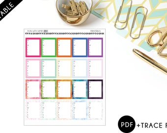 Week box Sticker - Printable Planner Stickers