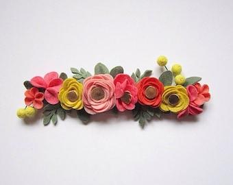 Rifle Paper Inspired Felt Flower Crown | Felt Flower Headband
