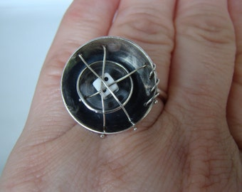 Found Objects & Sterling Silver Ring #085