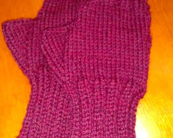Knit Wool Fingerless Gloves - Women's Fingerless Gloves