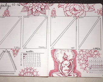Weekly Spread and Monthly Title Pages
